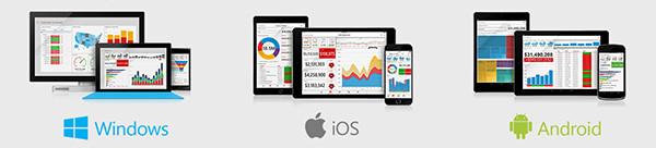 Apps disponíveis nas plataformas Windows, iOS e Android